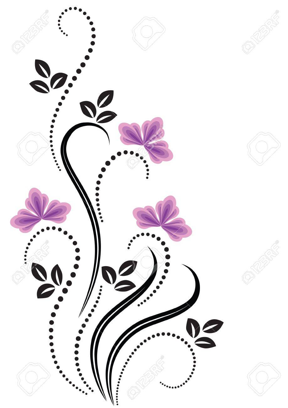 decorative flowers ornament stock vector 12809023 - Decorative Flowers