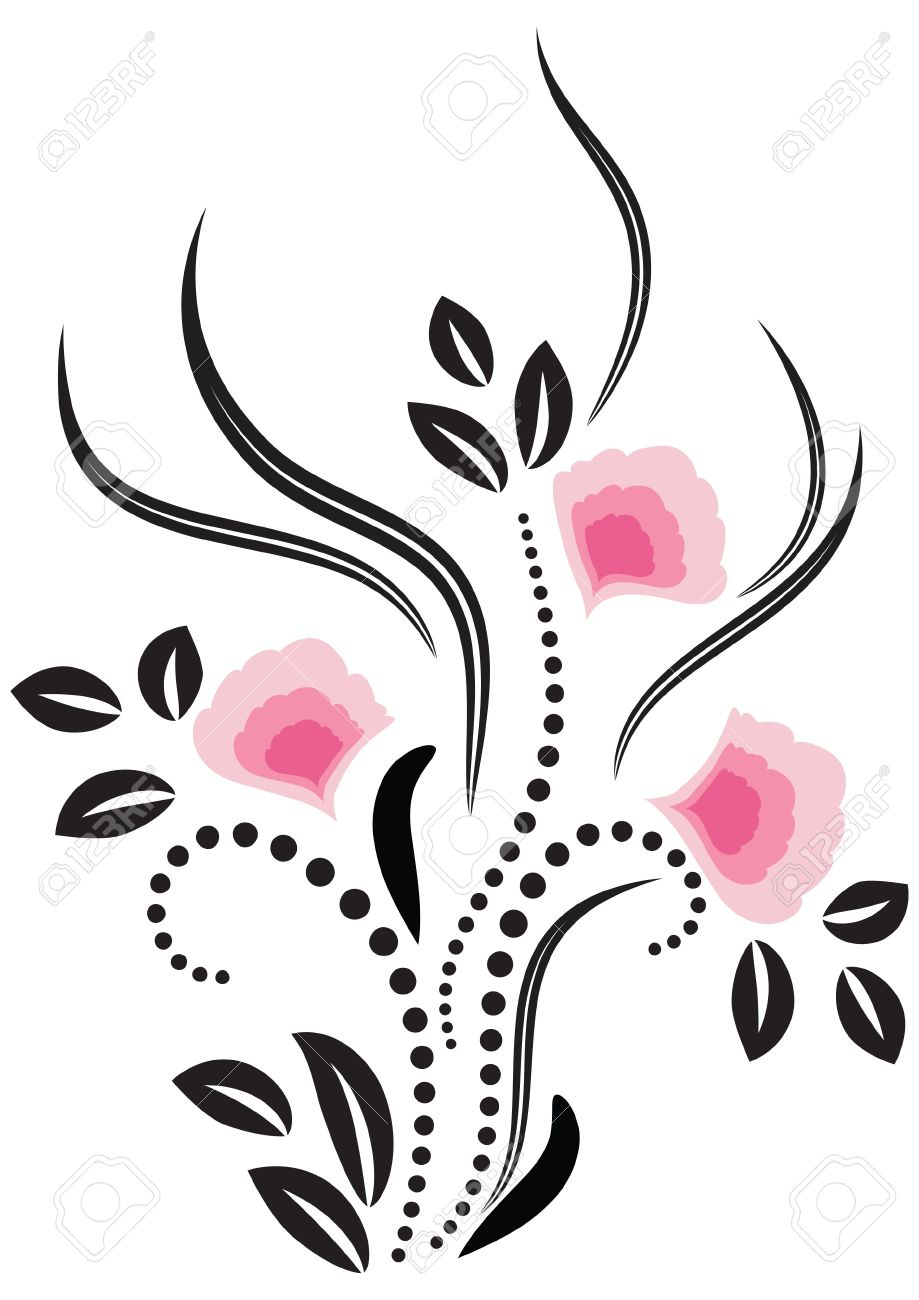 decorative flowers ornament stock vector 12808974 - Decorative Flowers