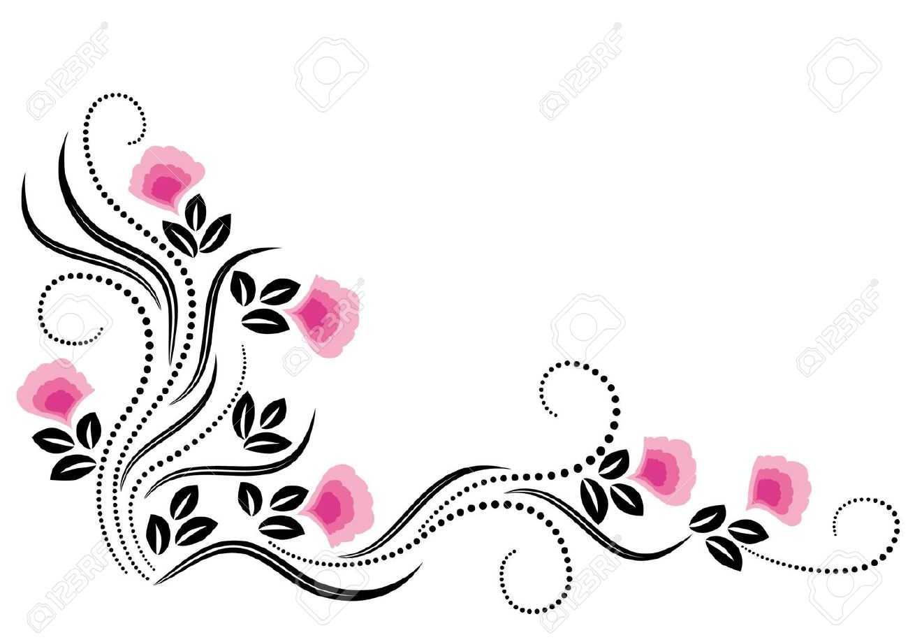 decorative flowers ornament stock vector 12809022 - Decorative Flowers