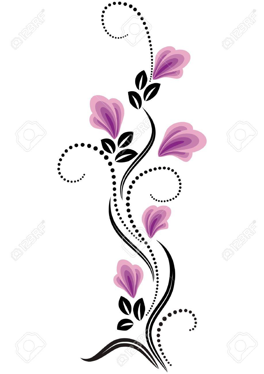 Decorative flowers ornament Stock Vector - 12809020