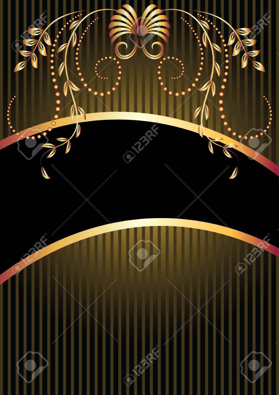 Background with golden ornament and a place for your text Stock Vector - 13979121