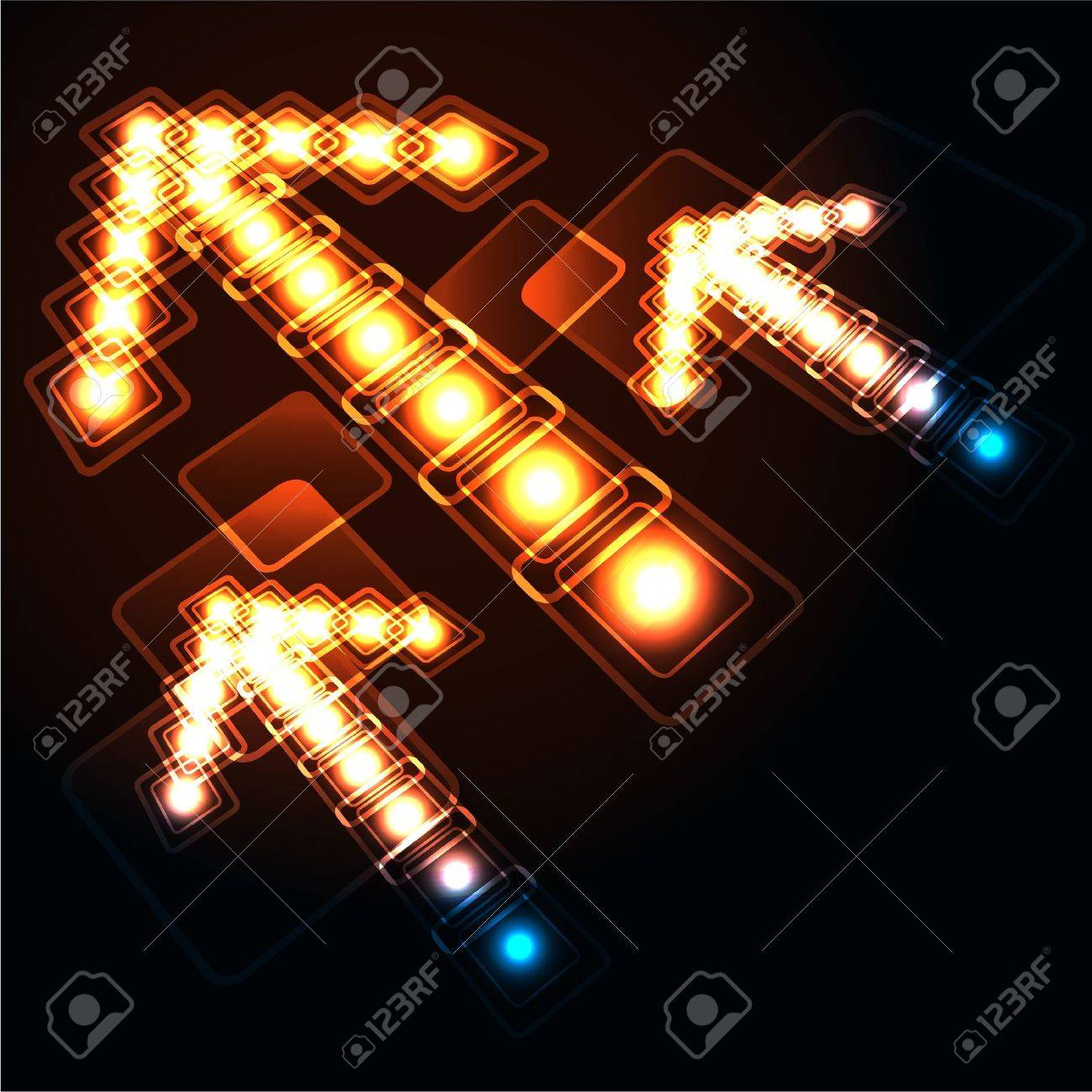 Glowing background with arrows Stock Vector - 14123018