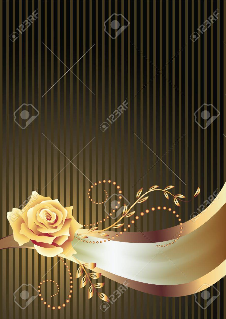Background with golden ornament and a place for your text Stock Vector - 14215725