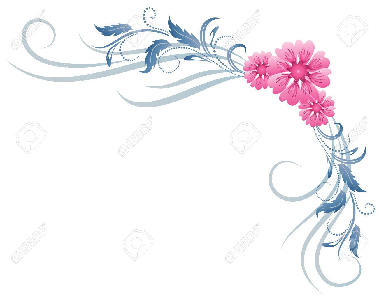 Corner floral ornament - 14567973