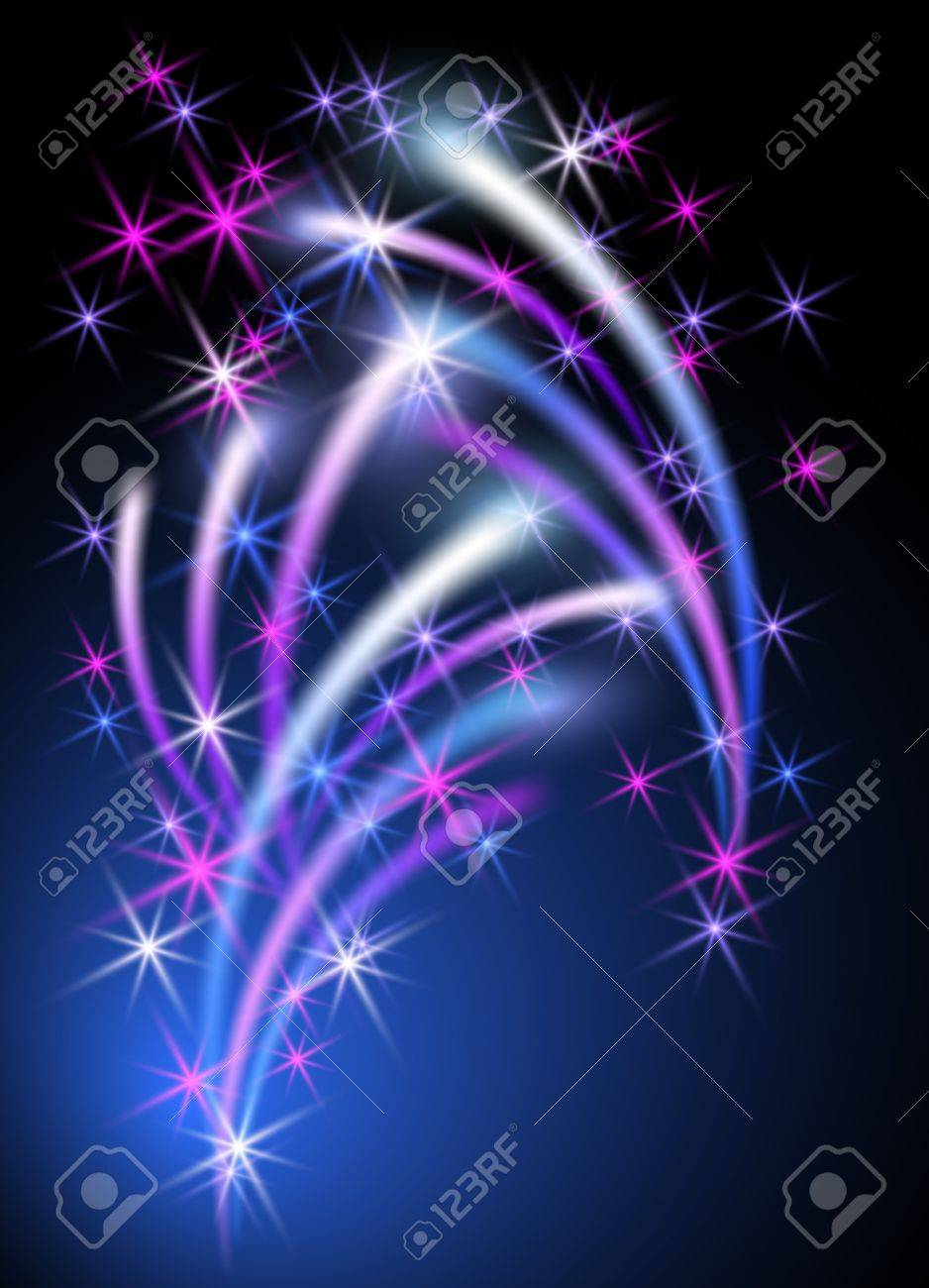 Glowing background with stars Stock Vector - 14937689