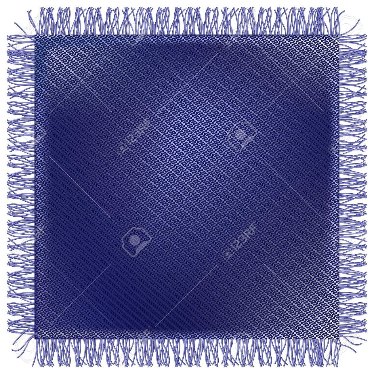 Flap threadbare jeans fabric with fringe Stock Vector - 17927483
