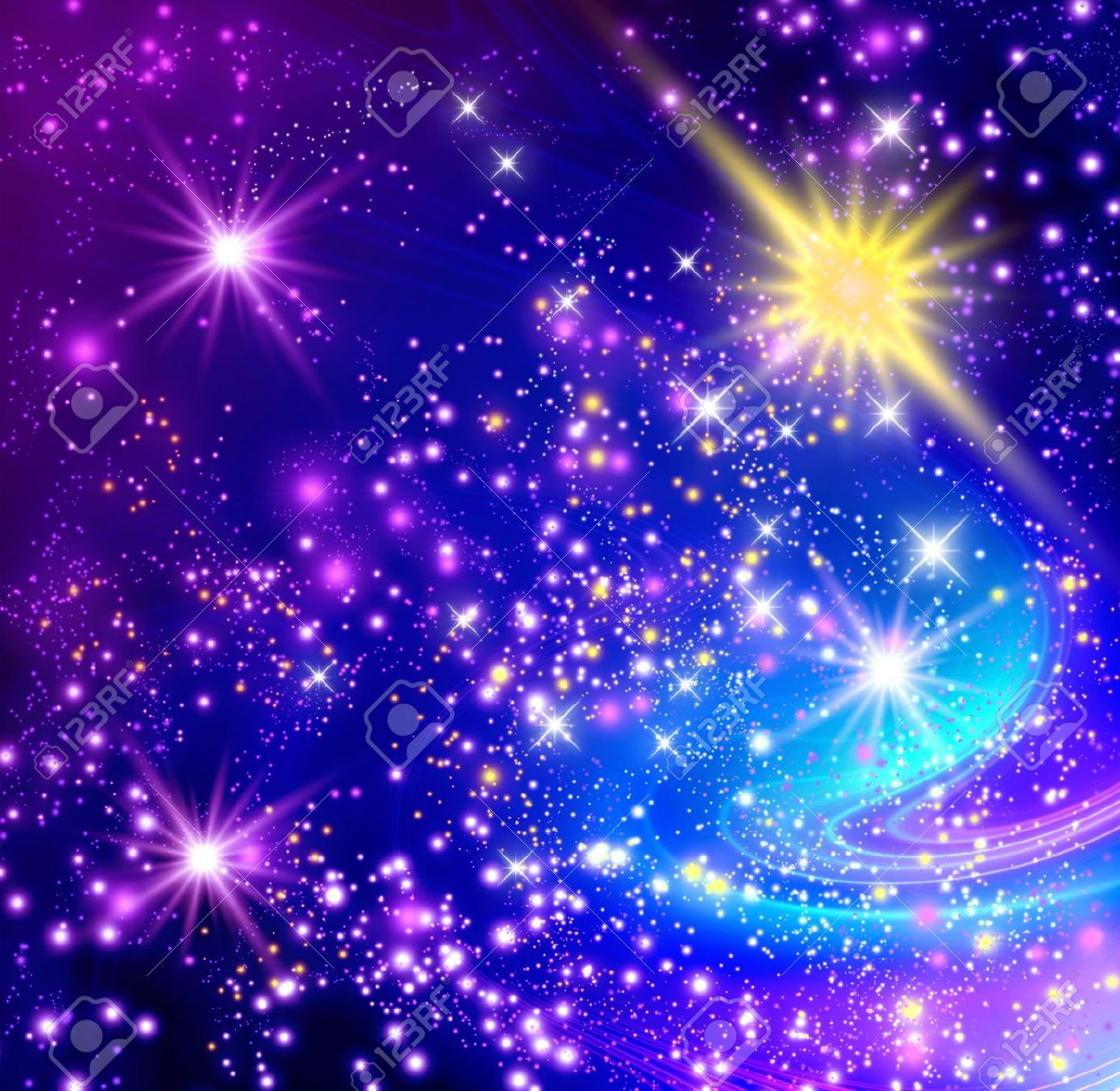 Background with glowing stars Stock Photo - 18063863