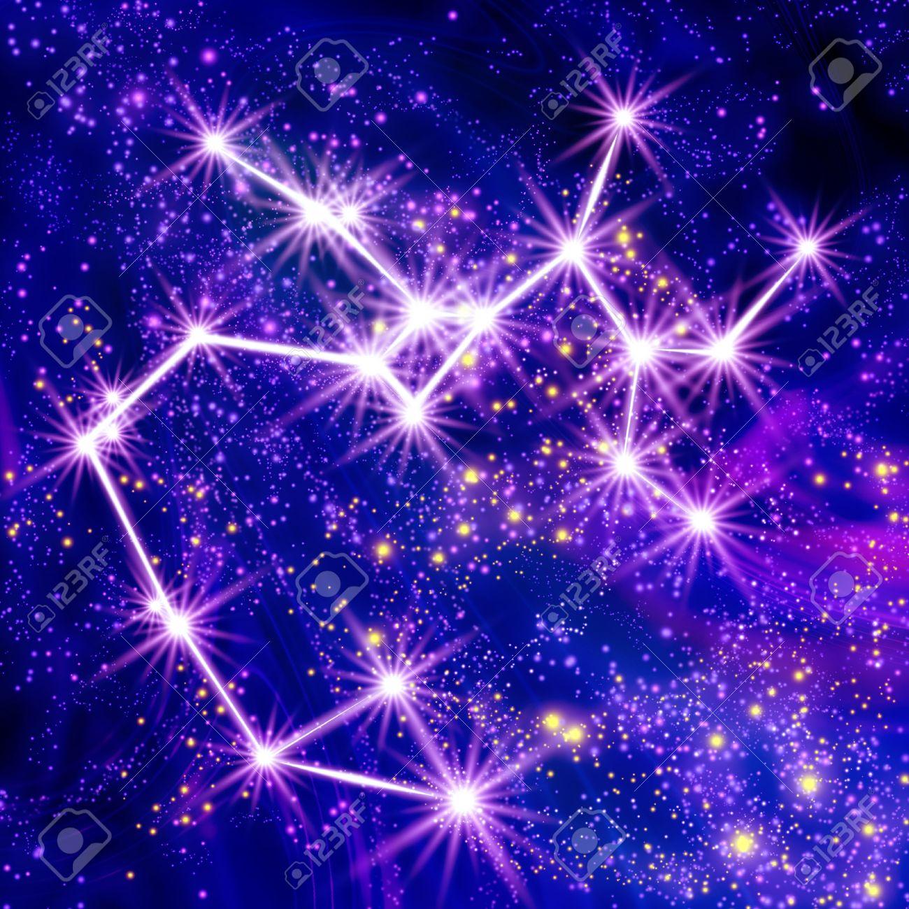 Constellation Sagittarius in the sky Stock Photo - 18829645