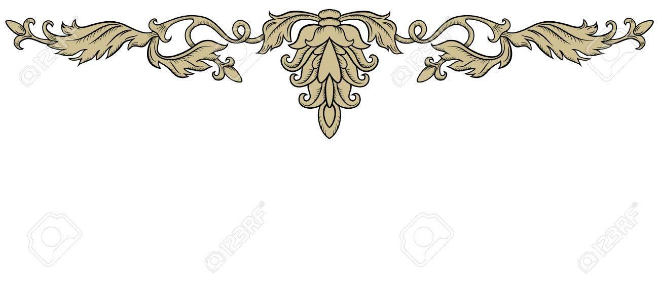 レトロなスタイルで左右対称の装飾飾りのイラスト素材ベクタ Image