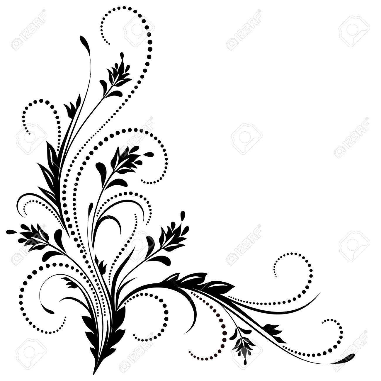 Decorative corner ornament in retro style - 50567285