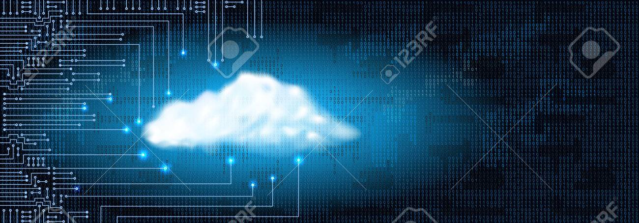 Drawing modern electronic circuit with digital concept cloud and binary code. Data storage concept for electronics system. - 76470001