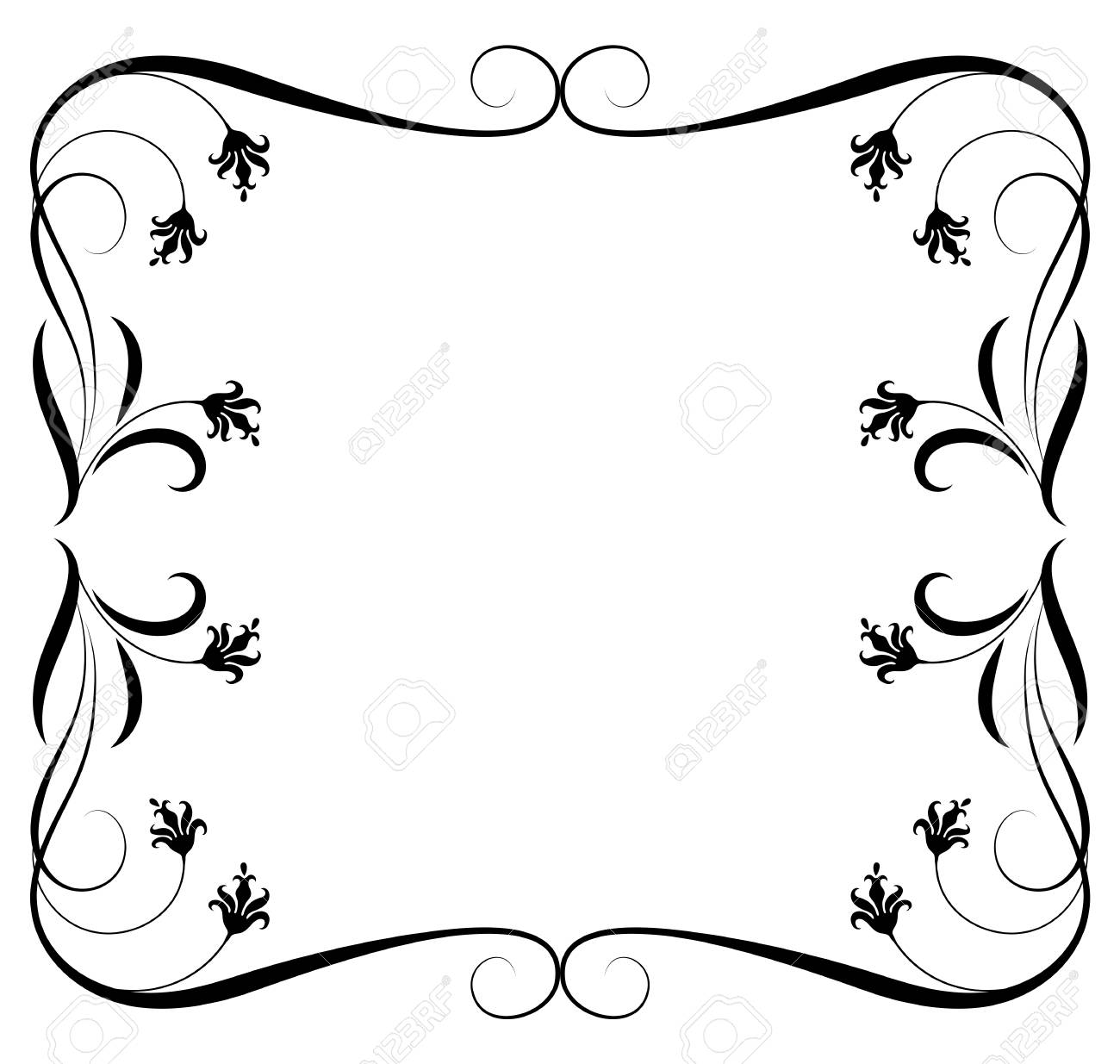 Decorative floral ornament frame for stencil isolated on white decorative floral ornament frame for stencil isolated on white background stock vector 79339036 jeuxipadfo Image collections