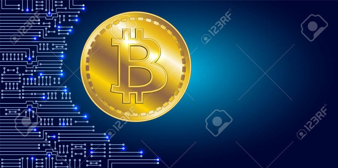 Internationale Währung Virtuelles Symbol Der Münze Bitcoin Auf ...