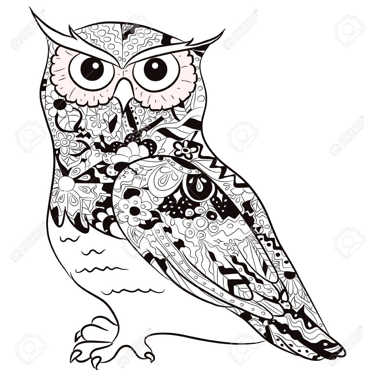 black and white owl royalty free cliparts vectors and stock