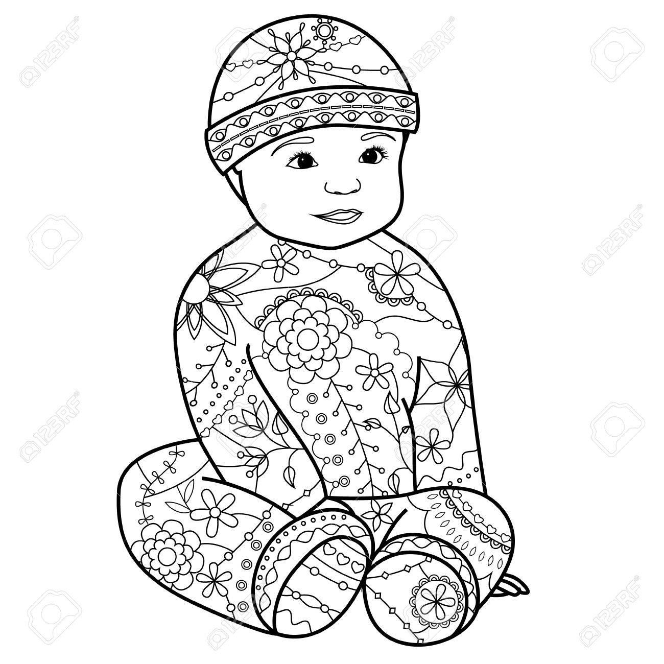 ベクトル男の子ぬりえのイラスト素材ベクタ Image 56151189