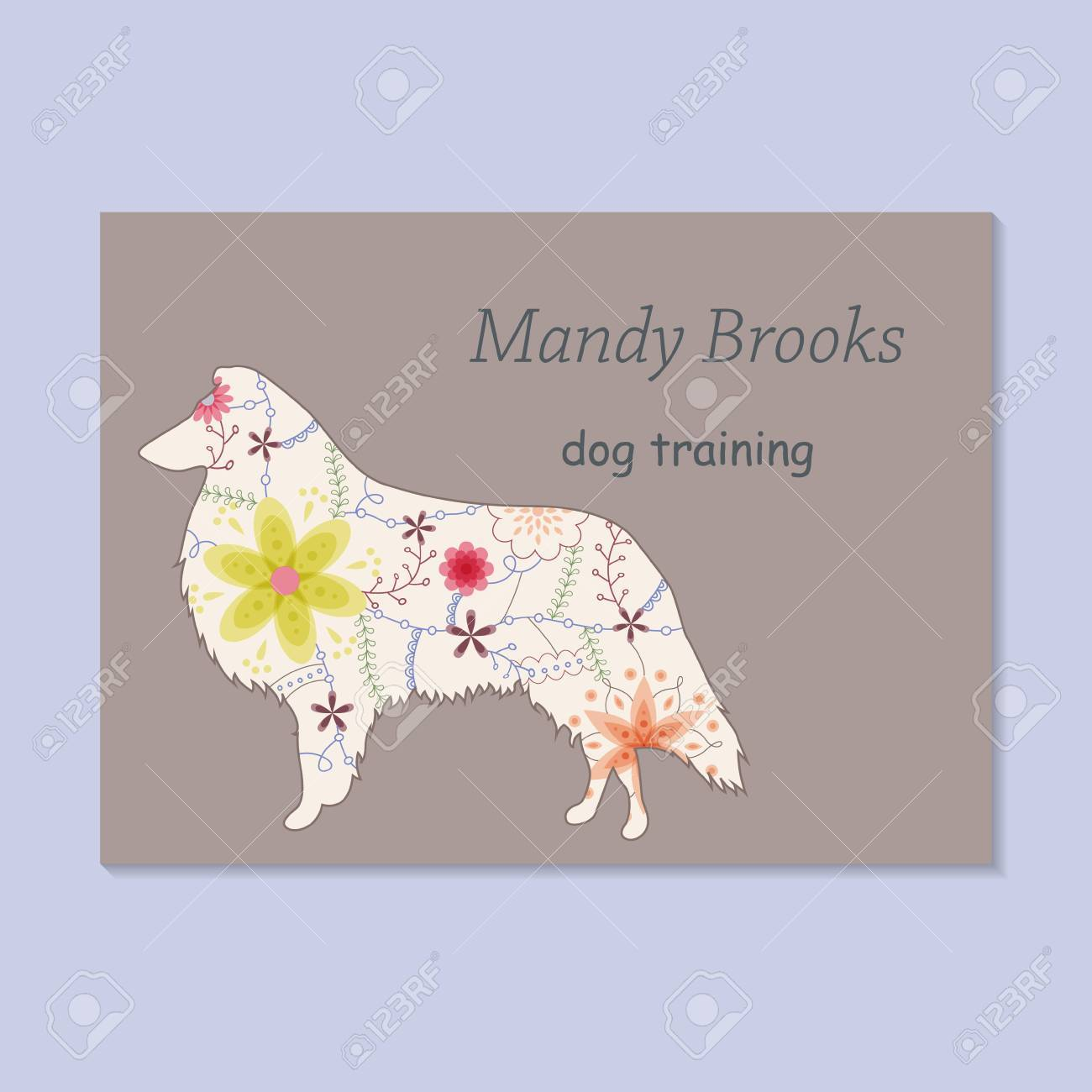Vector Vintage Business Card For Dog Training Royalty Free Cliparts ...