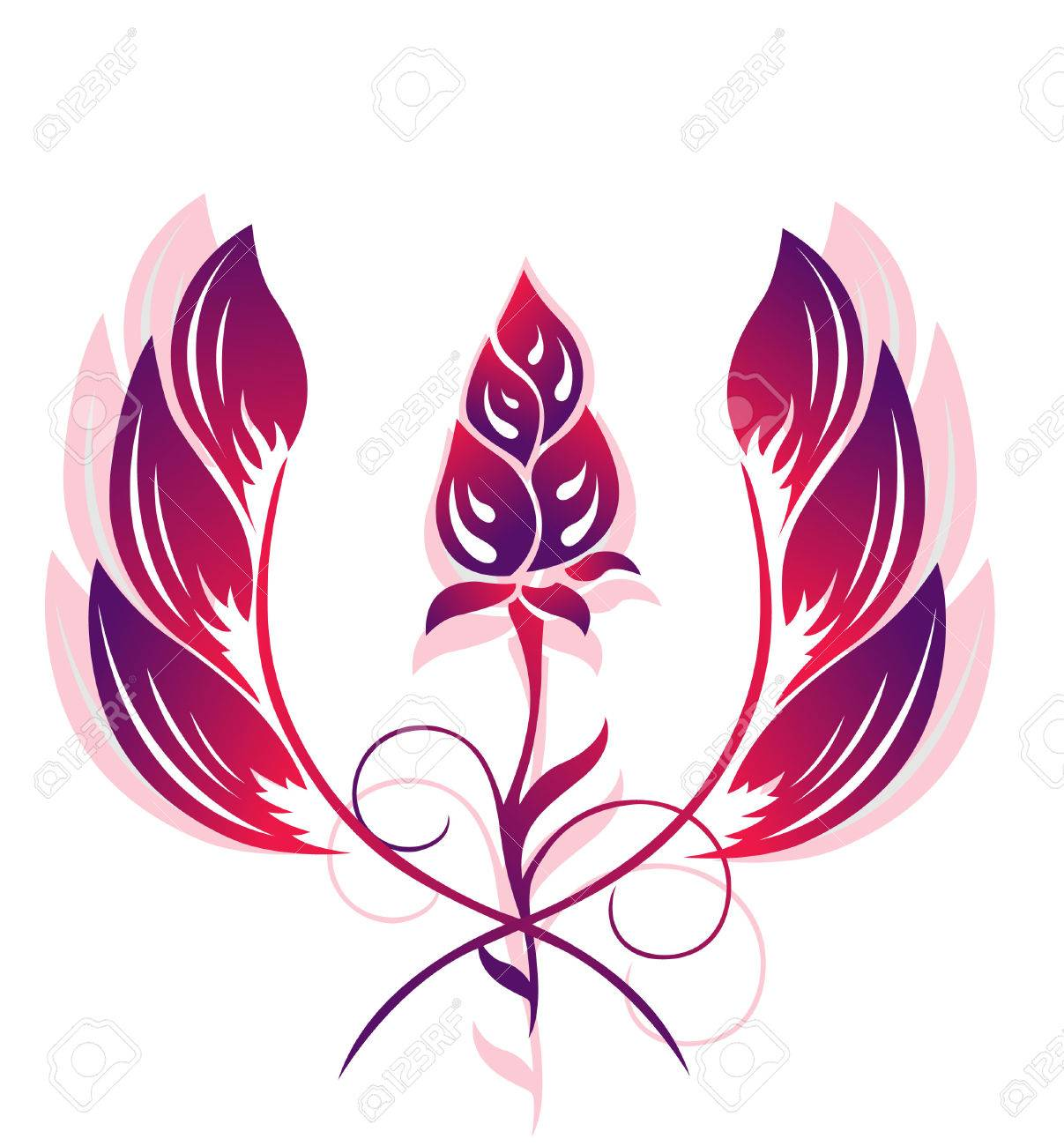 Flower pattern, tattoo Stock Vector - 6844027