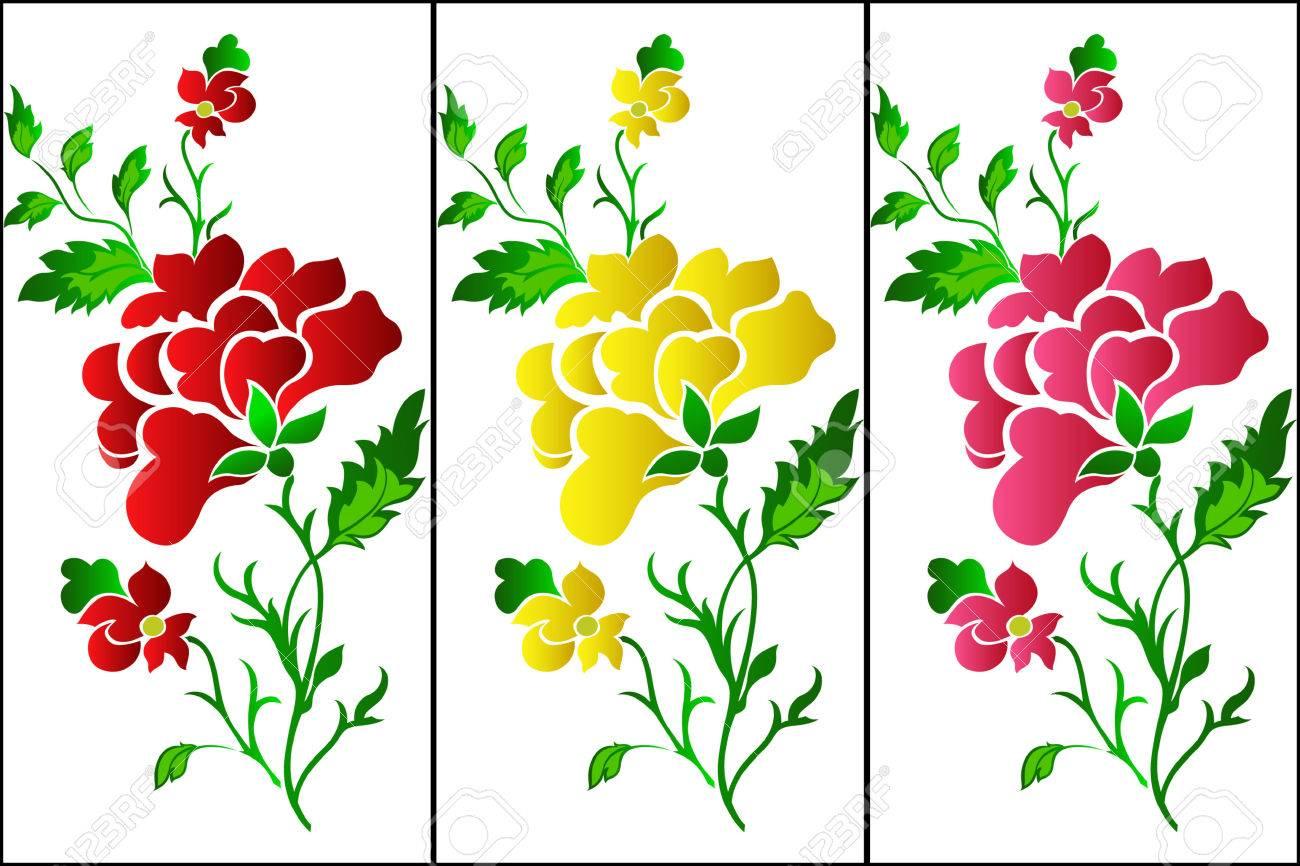 Vertical Flower Pattern Flower pattern vertical  rose