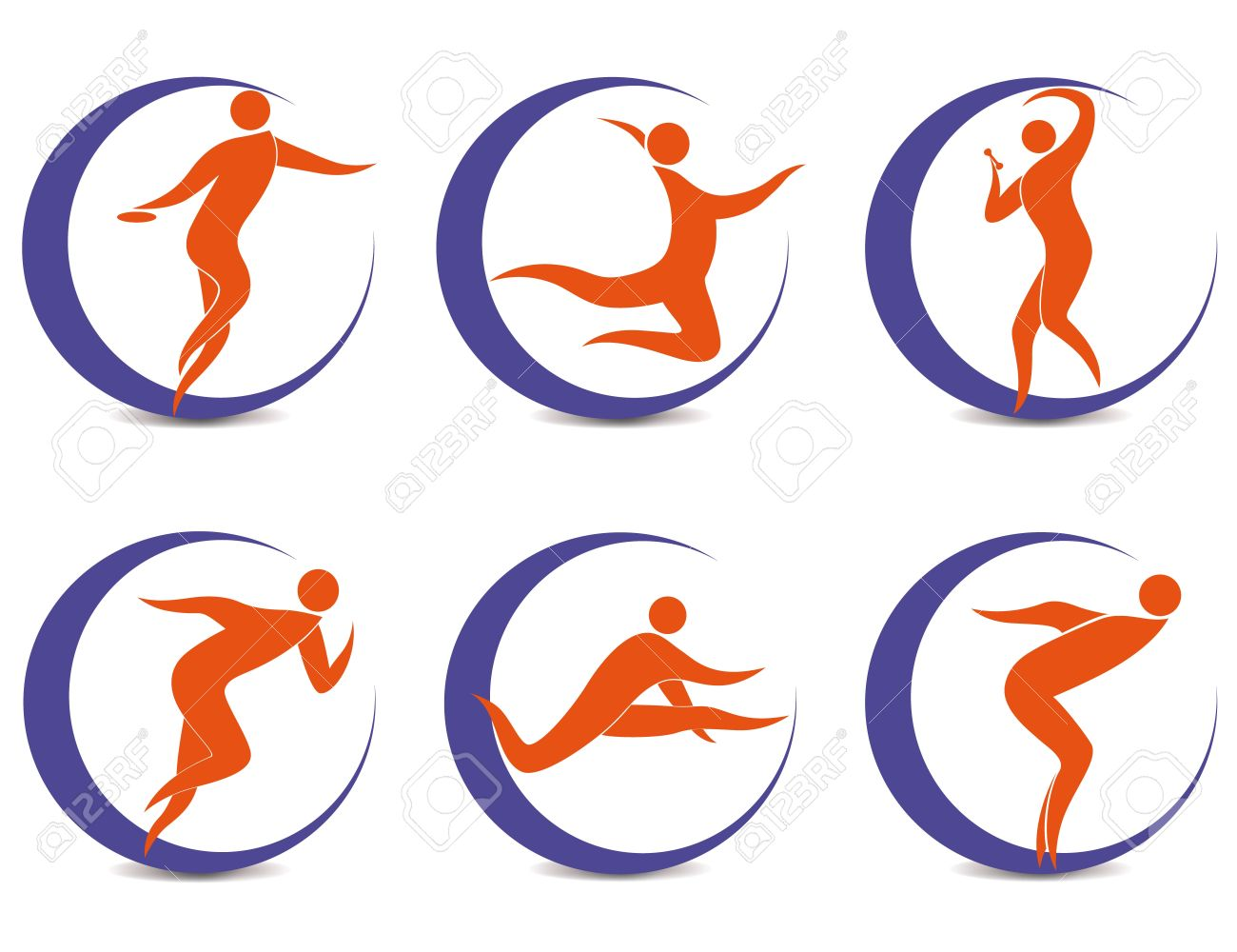 Set of sports symbols with silhouettes of human royalty free set of sports symbols with silhouettes of human stock vector 12924395 biocorpaavc
