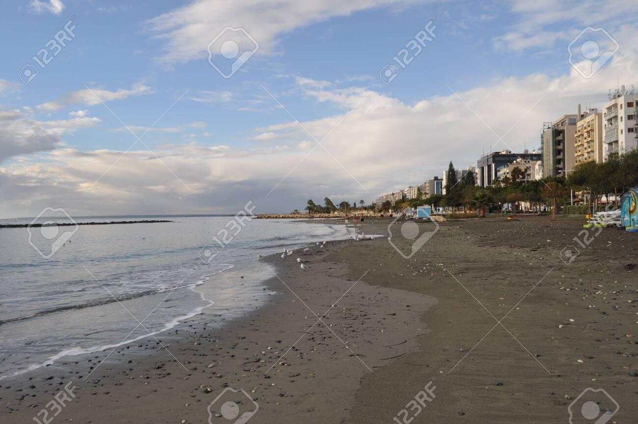 The beautiful Limassol Beach in Cyprus - 152332146