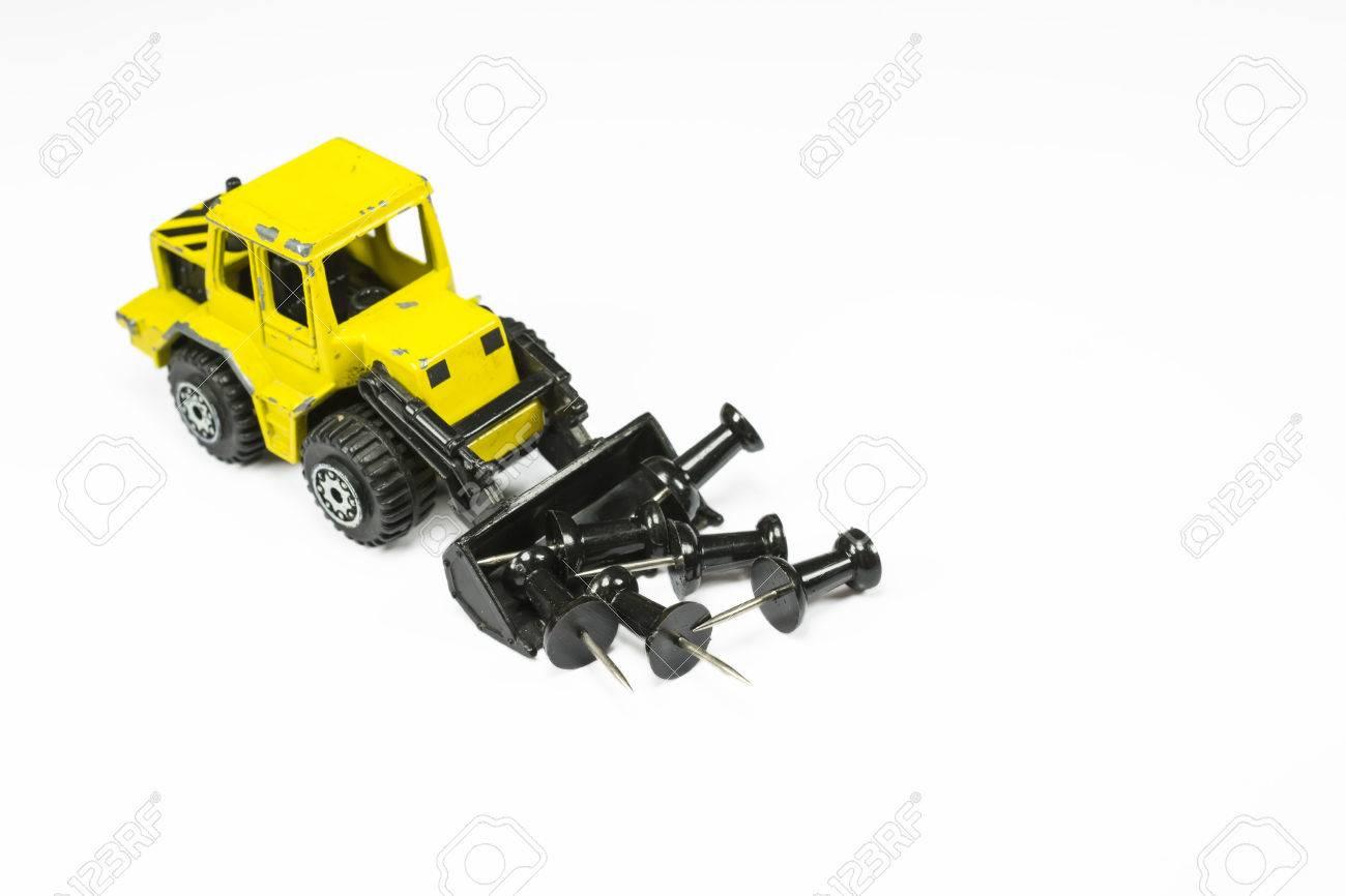 Frontlader Spielzeug : Frontlader spielzeug modell im maßstab mit der vorderen eimer