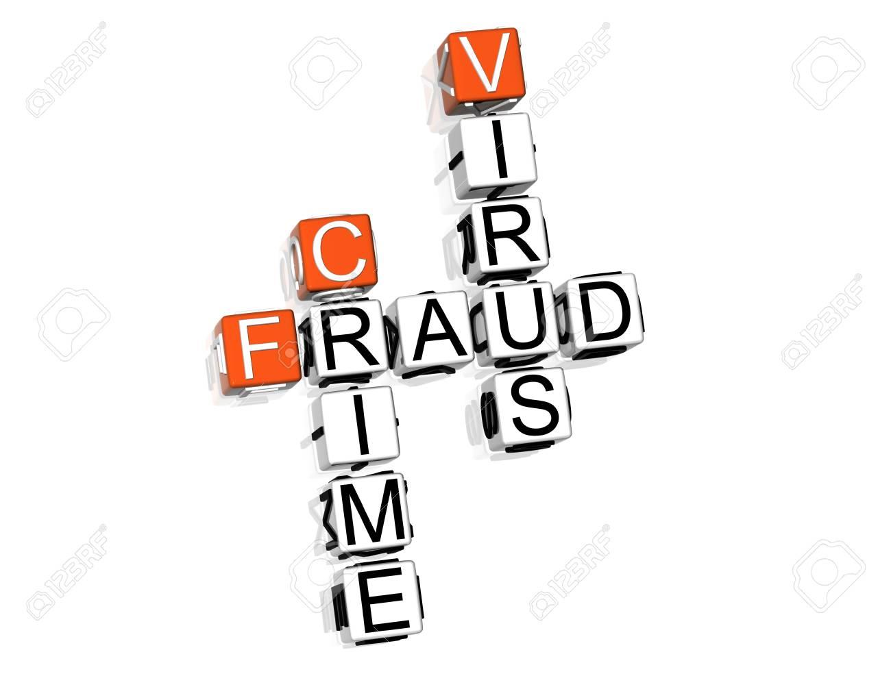 3D Fraud Danger Crossword on white background Stock Photo - 8973290