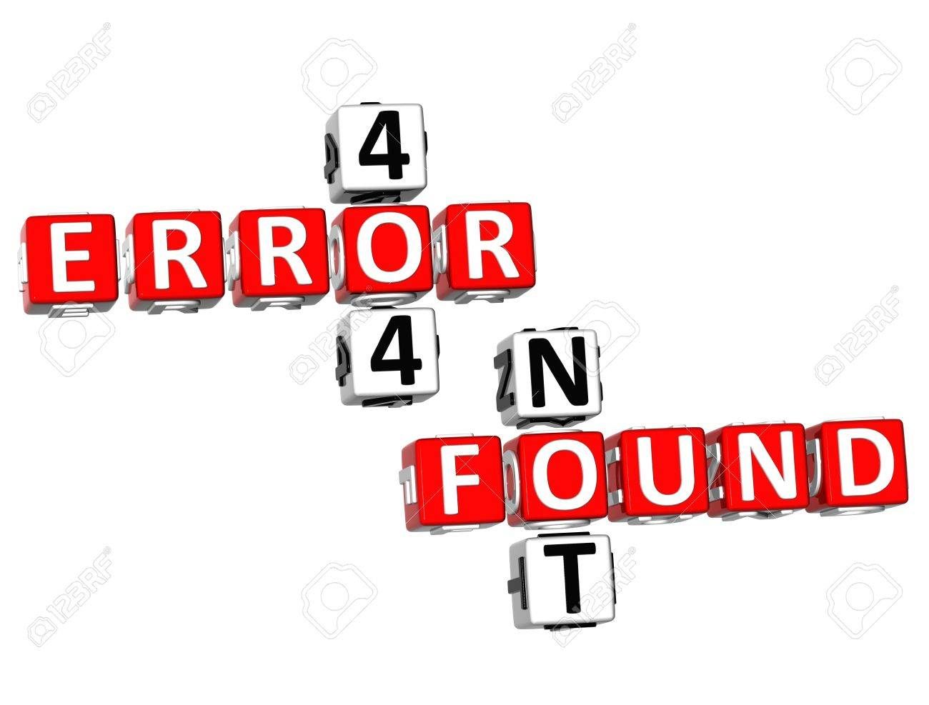 Background image 404 not found - 3d Not Found And Error 404 Crossword On White Background Stock Photo 9674422