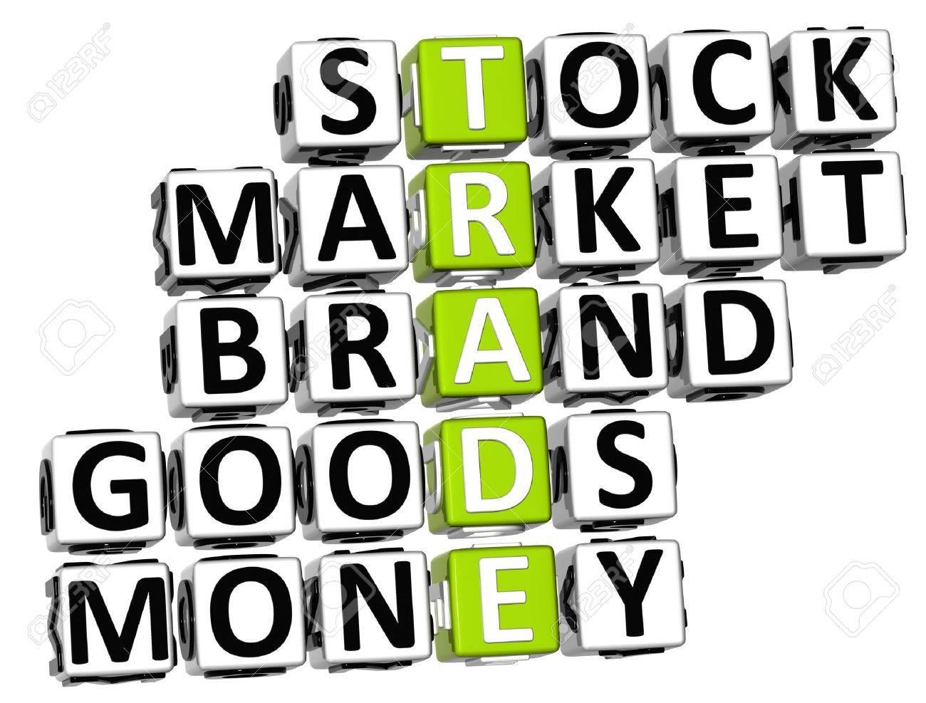 3D Trade Market Stock Crossword on white background Stock Photo - 9753161