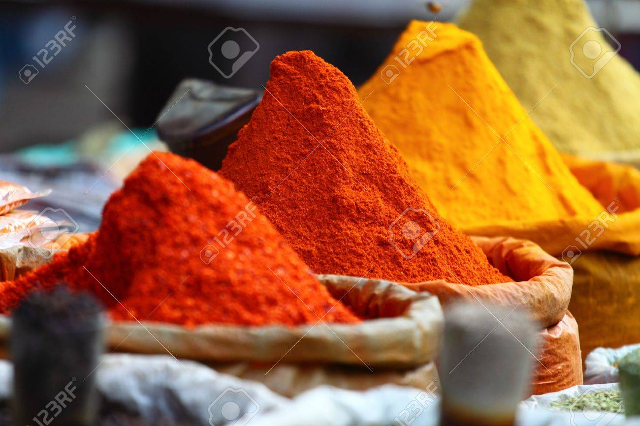 Traditional spices market in India. Stock Photo - 12309508