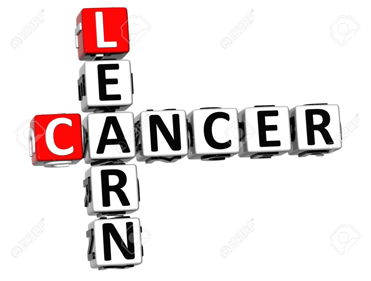3D Cancer Learn Crossword over white background Stock Photo - 12309019
