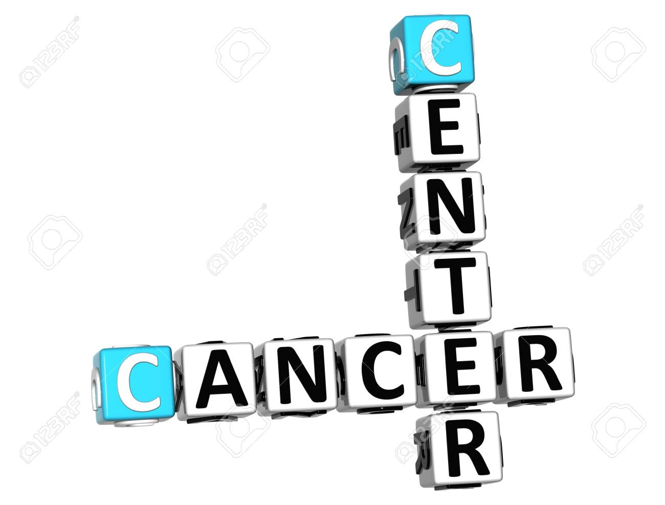 3D Cancer Center Crossword over white background Stock Photo - 12309040