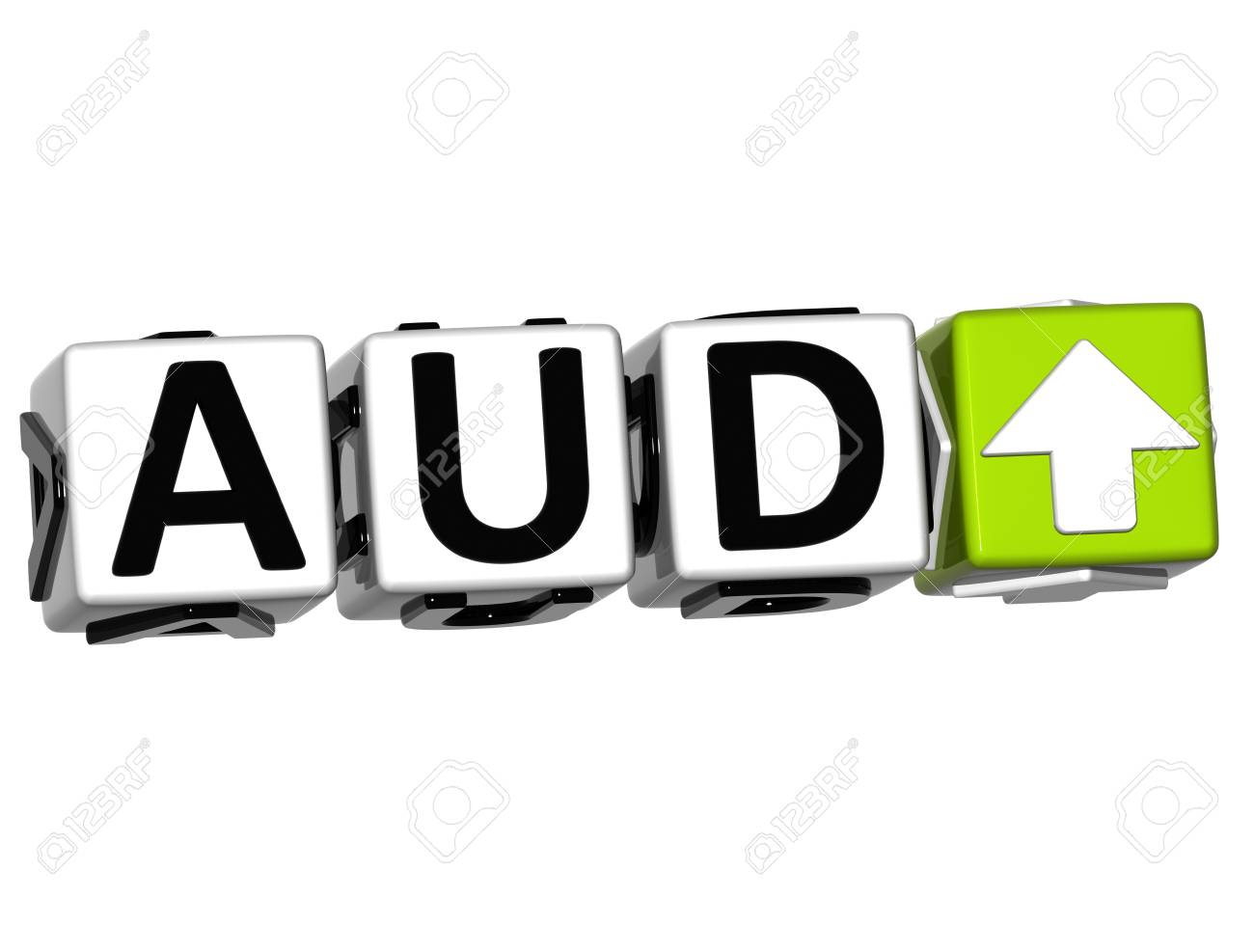Currency AUD rate concept symbol button on white background Stock Photo - 12569431