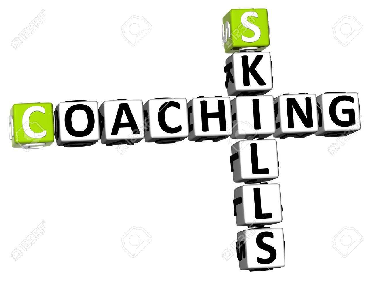 3D Skills Coaching Crossword on white background Stock Photo - 13700570