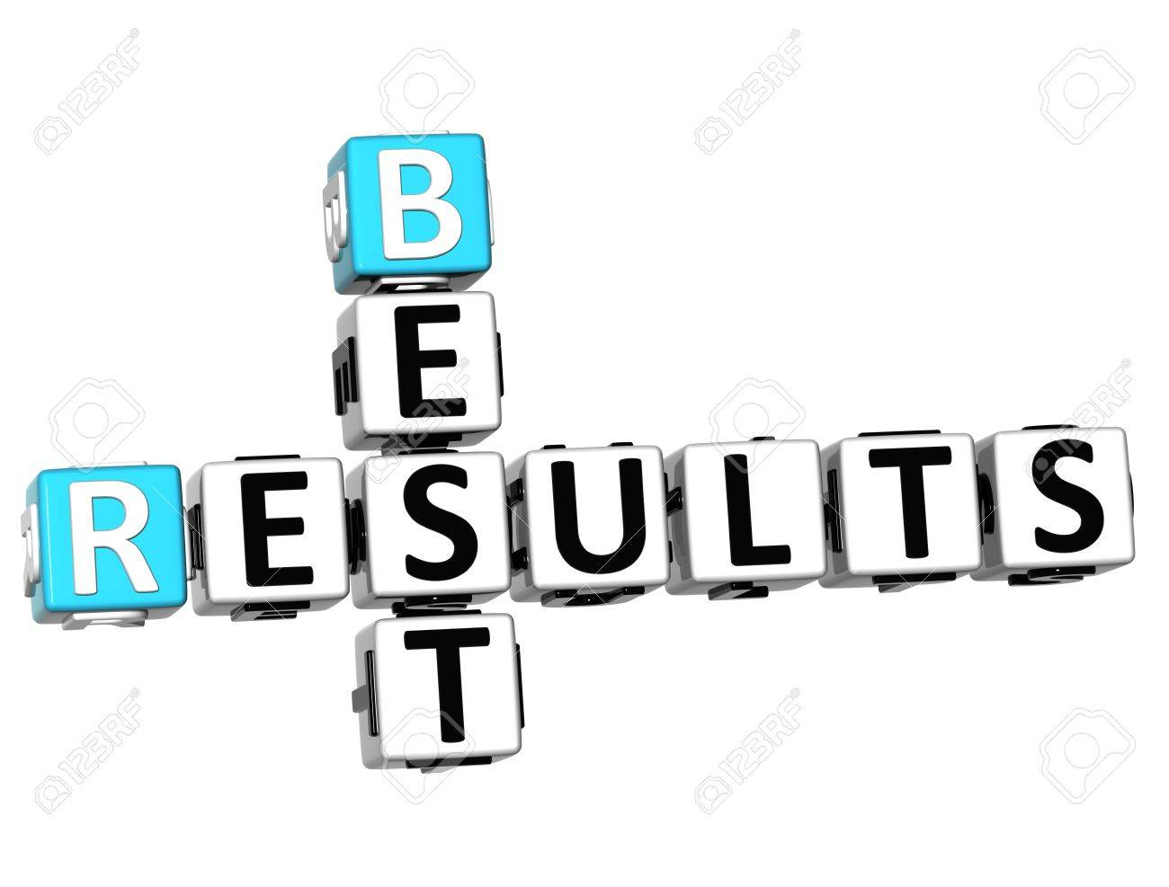 3D Best Results Crossword on white background Stock Photo - 13700688