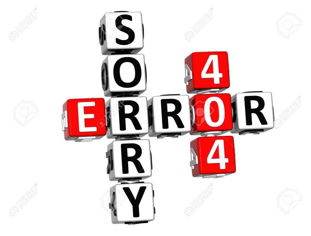 Background image 404 - 3d Error 404 Sorry Crossword On White Background Stock Photo 13700791