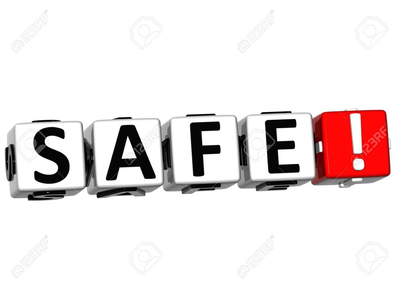 3D Safe Crossword on white background Stock Photo - 13857451