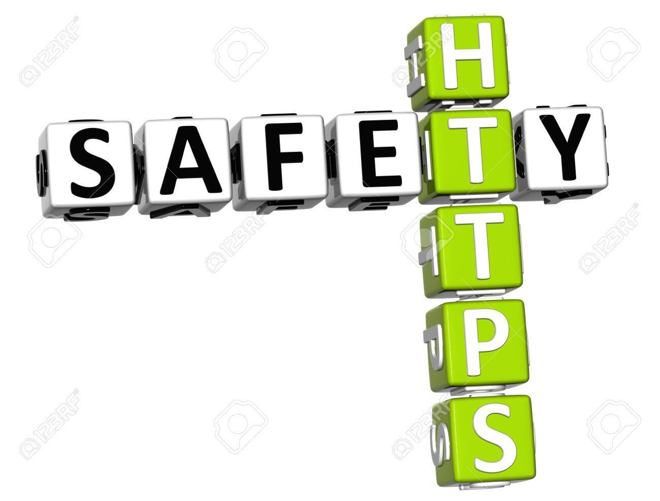 3D Safety Https Crossword on white background Stock Photo - 13925550