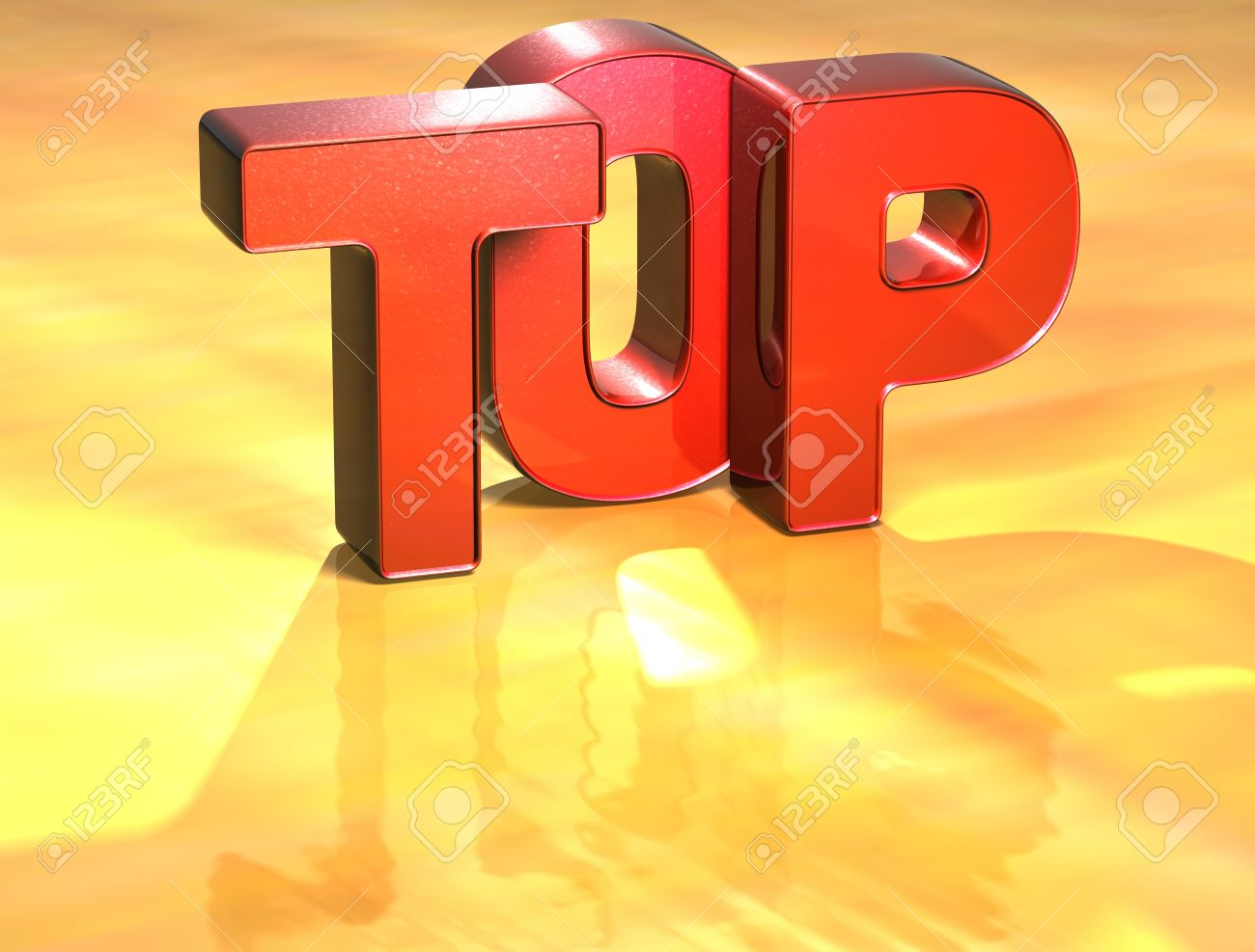 Word Top on yellow background (high resolution 3D image) Stock Photo - 13963364