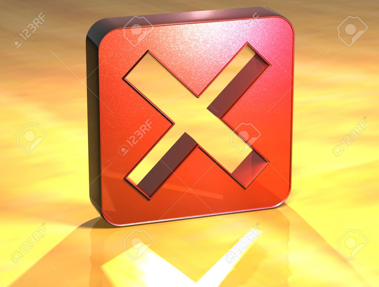 3D Danied Access Red Sign over yellow background Stock Photo - 14050195
