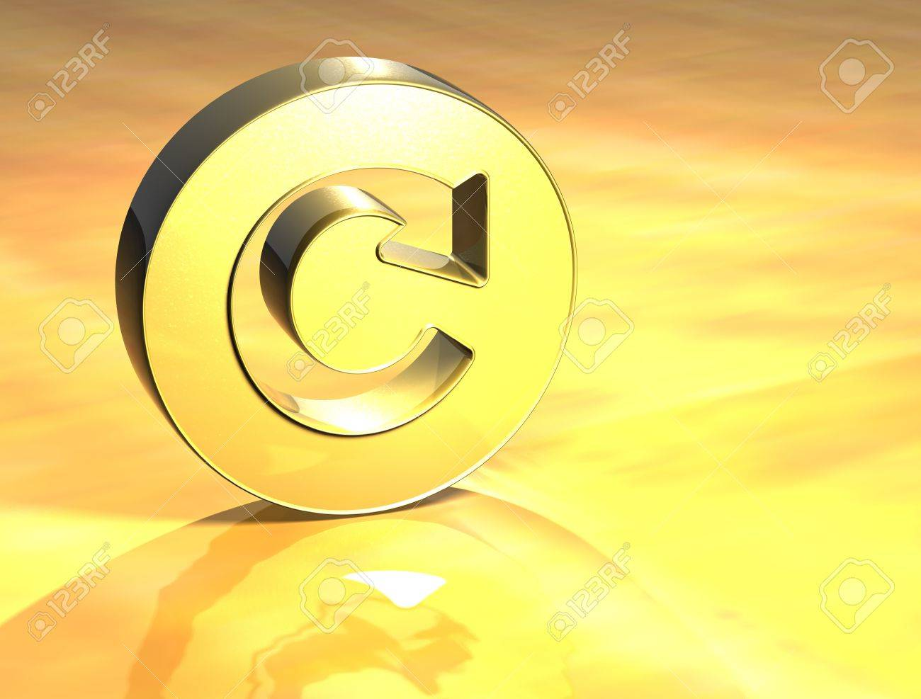 3D Refresh Gold Sign over yellow background Stock Photo - 14053625