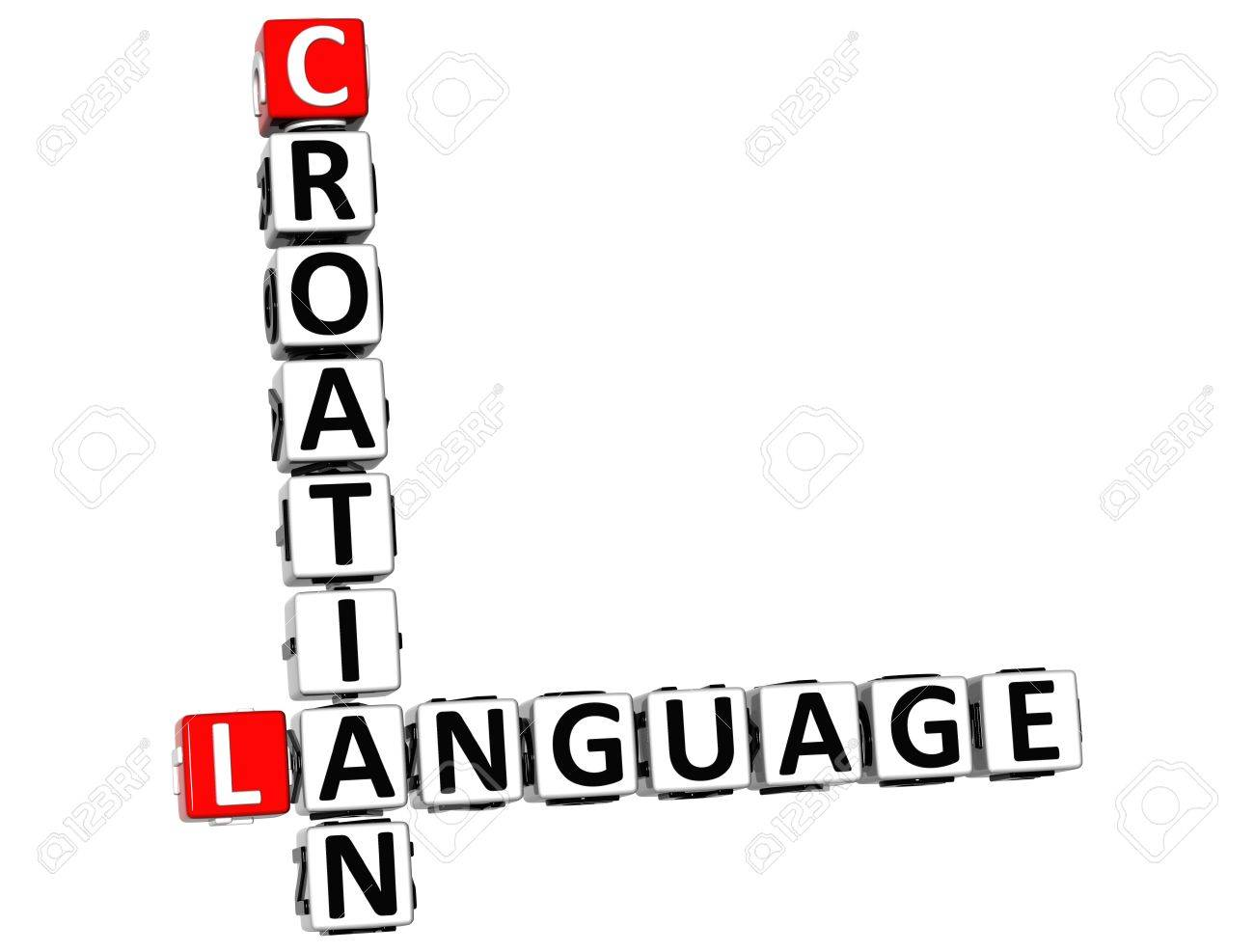 3D Croatian Language Crossword On White Background Stock Photo ...