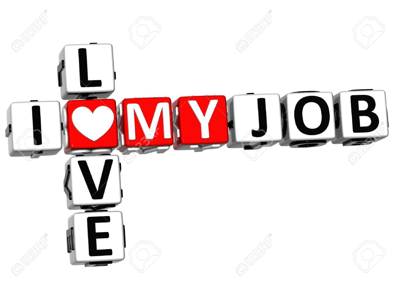 d i love my job crossword on white background stock photo 3d i love my job crossword on white background stock photo 15218692