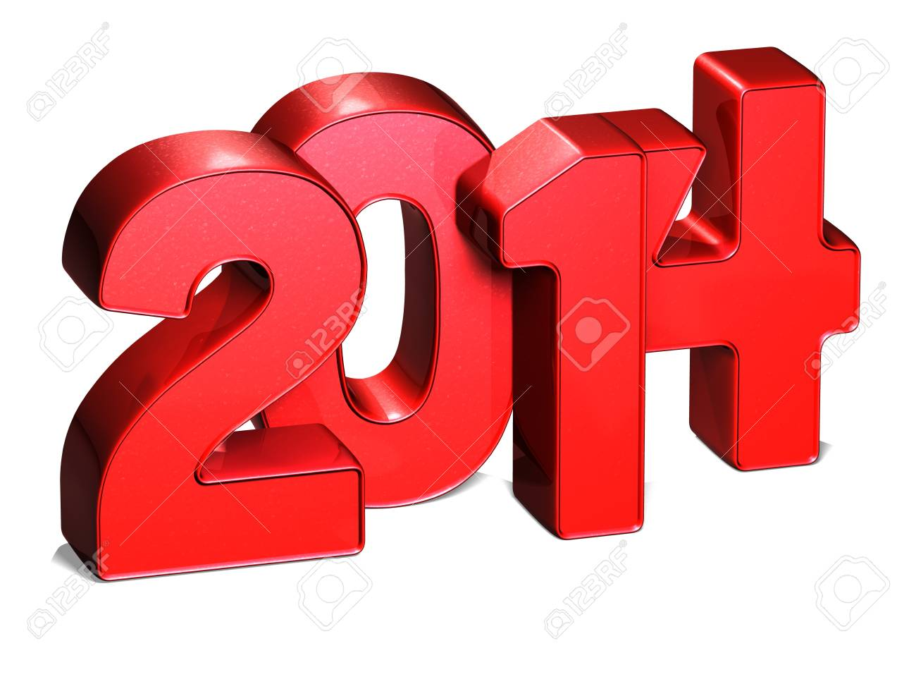 3D Year 2014 on white background Stock Photo - 17127723