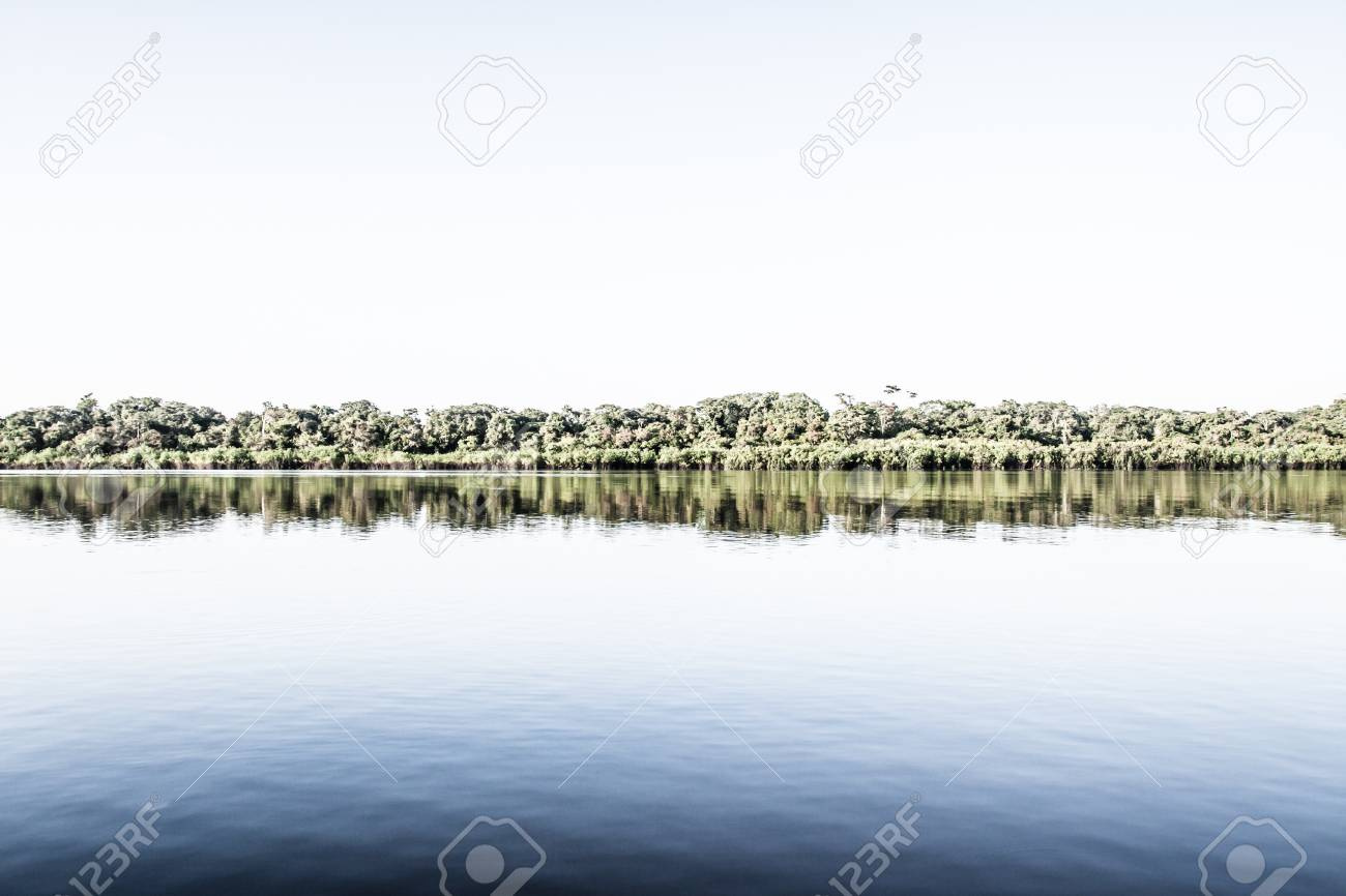 Amazon river in morning ( HDR image ) Stock Photo - 17144587