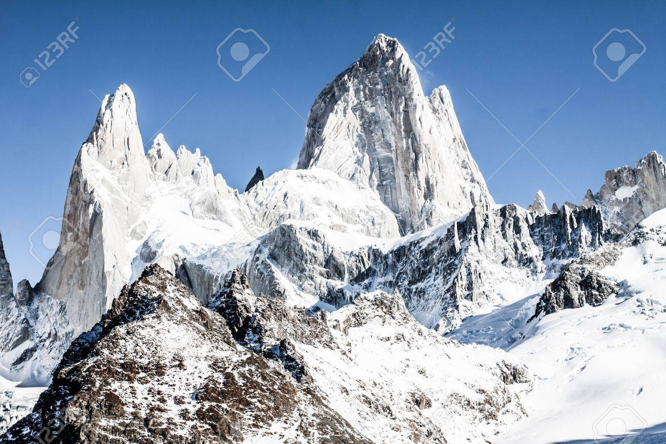 Beautiful nature landscape with Mt. Fitz Roy as seen in Los Glaciares National Park, Patagonia, Argentina  ( HDR image ) Stock Photo - 17144780