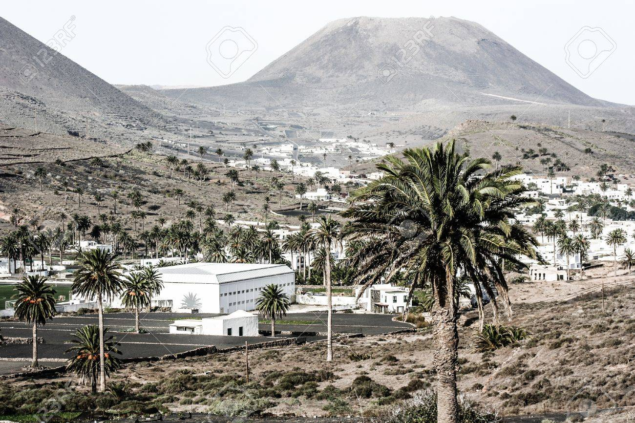 Traditional house, Lanzarote, Canary islands, Spain Stock Photo - 17836150