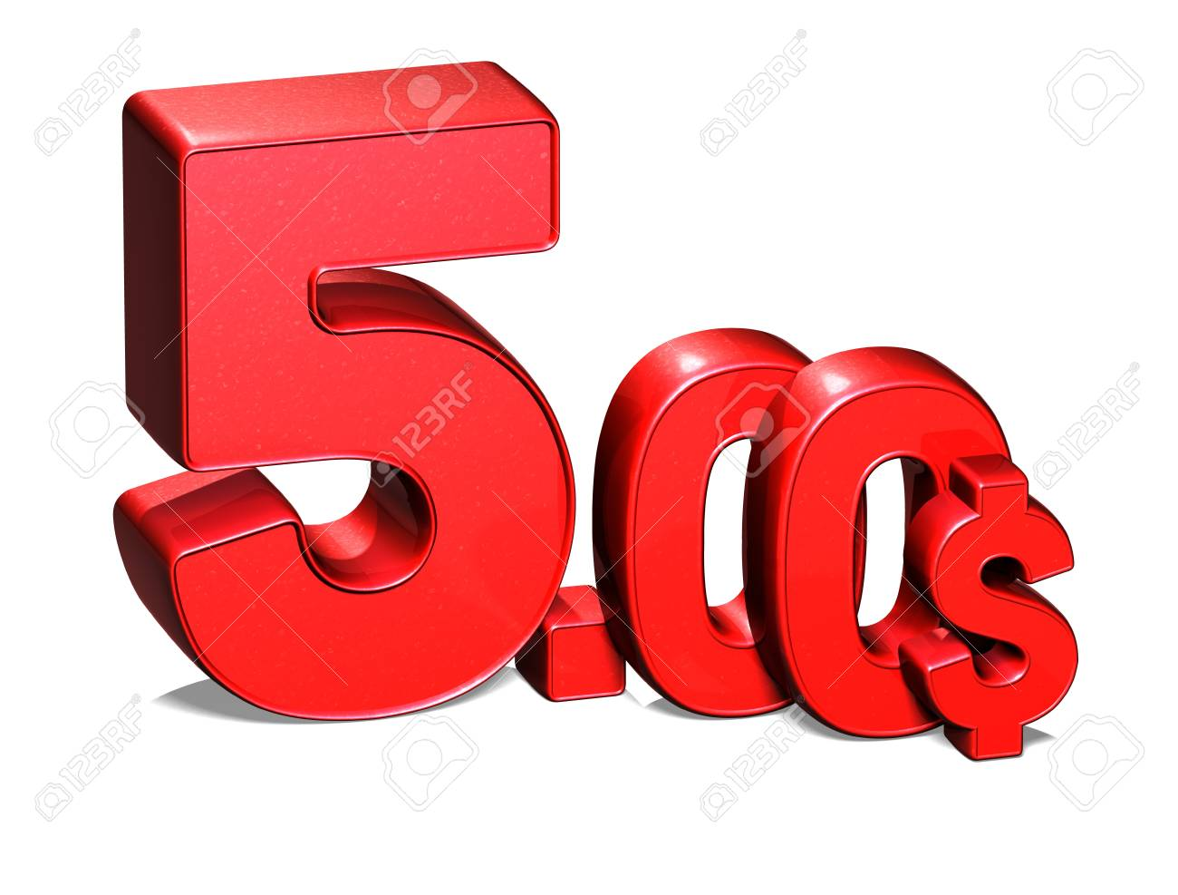 3D Red Special Price USD collection over white background Stock Photo - 17835858