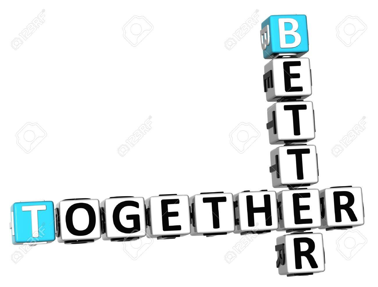 3D Better Together Crossword on white background Stock Photo - 18282486