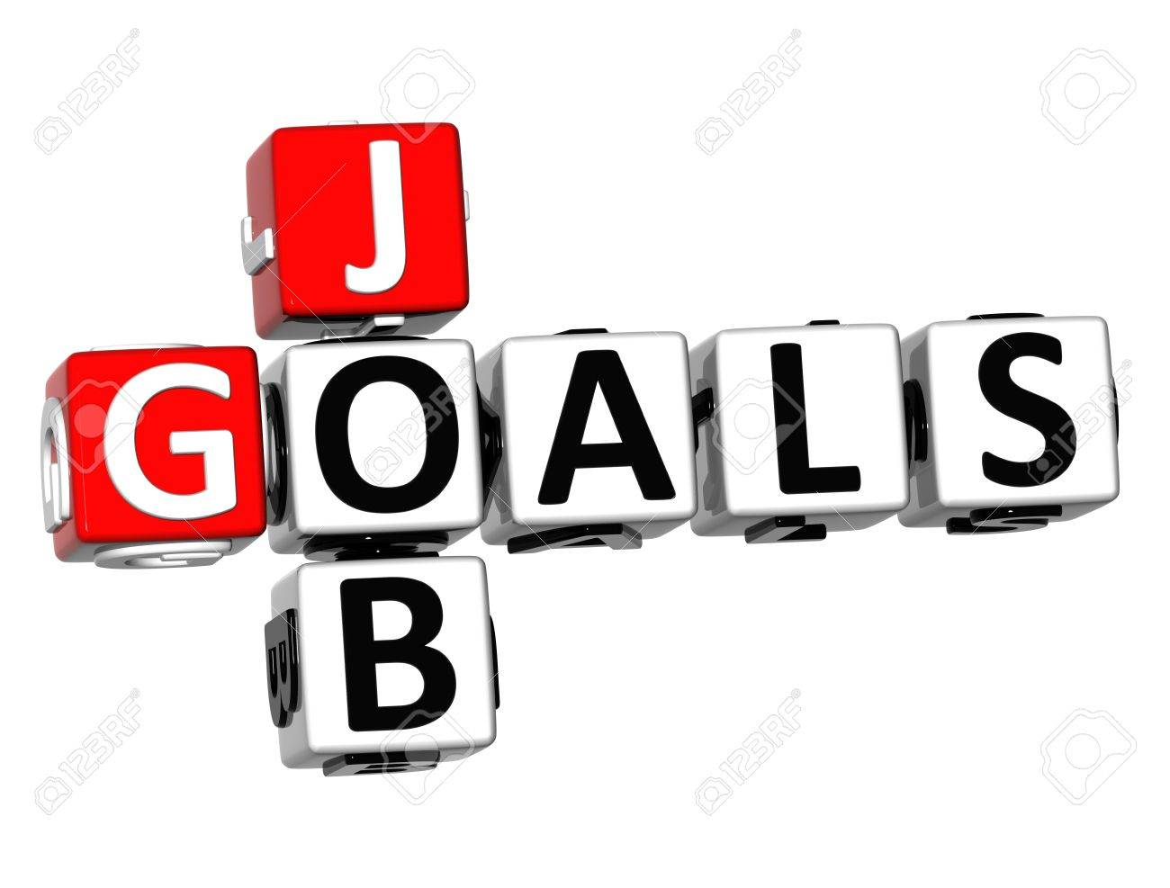 3d job goals crossword on white background stock photo picture 3d job goals crossword on white background stock photo 18702686