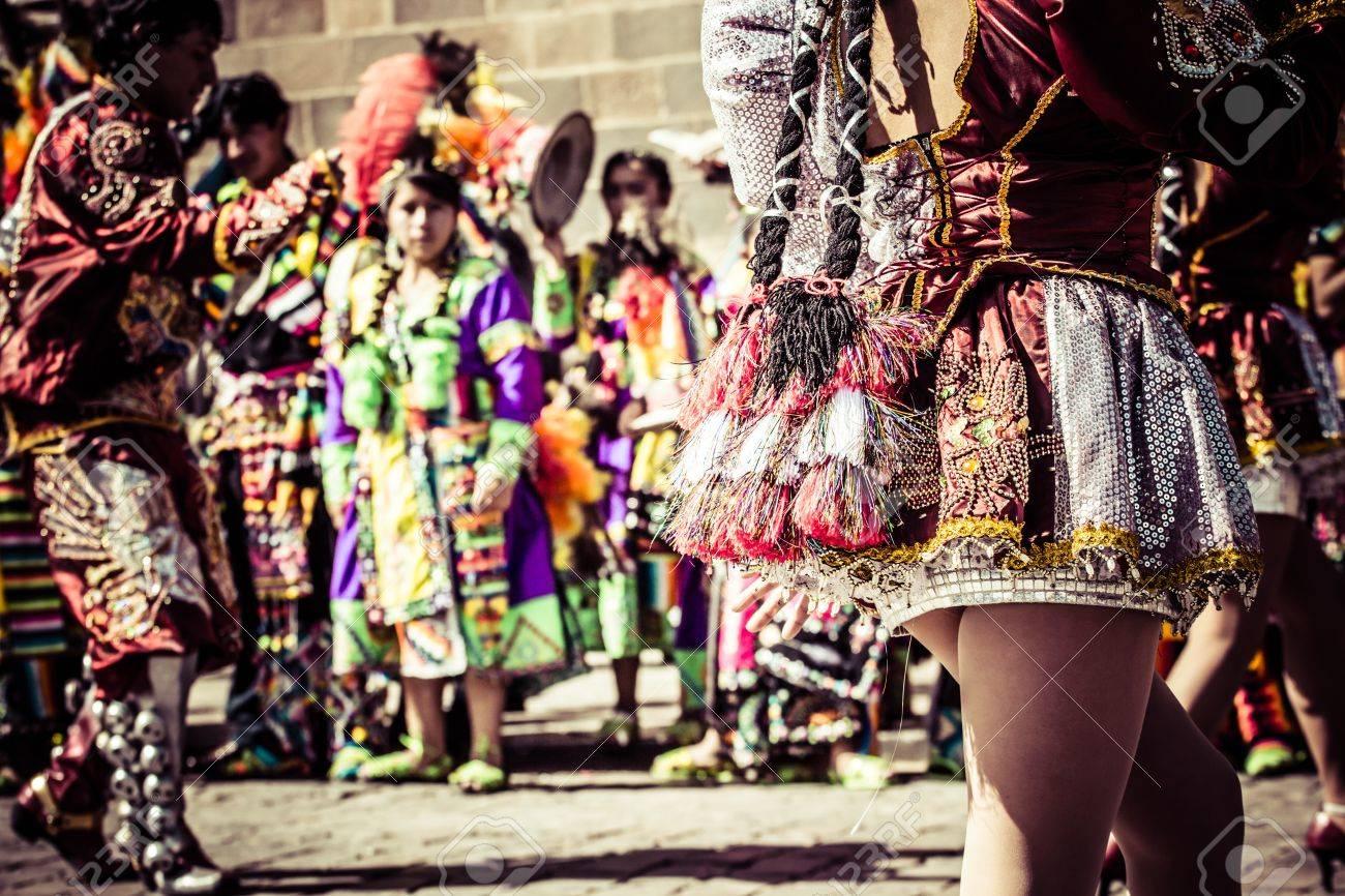 Peruvian dancers at the parade in Cusco